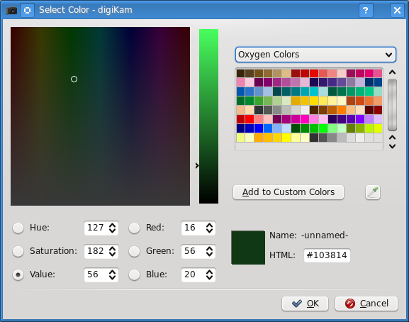 KolourPaint: KDE Default Color Chooser