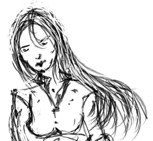 Wounded girl