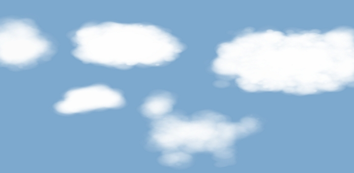 New clouds with Krita are even better then the real things (U2)!